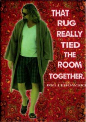Rug Really Ties the Room Together - Big Lebowski Magnet