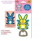 Happy Bunny Bottle Opener + Happy Bunny Dick Keychain
