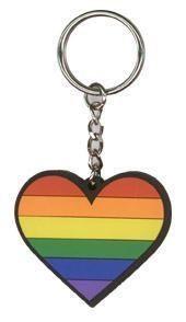 Rainbow Pride Heart Love Keychain