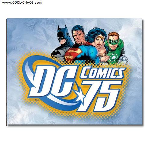 DC Comics Sign / Comic Books DC 75th Anniversary Sign