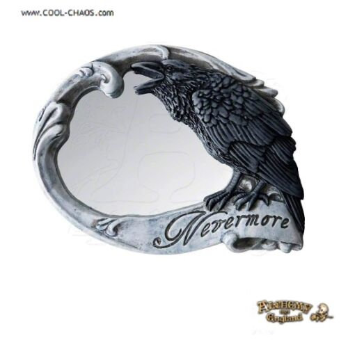 Raven Rose Skull Compact Mirror by Alchemy Gothic 1977