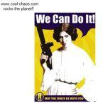 Star Wars+Princess Leia+We Can Do it! Magnet