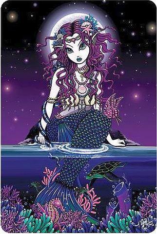 Big Eyed Purple Mermaid Sticker