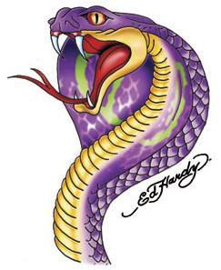 Purple Cobra Sticker