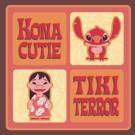 Lilo and Stitch Tiki Terror Square Button by Disney