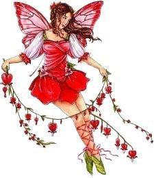 Bleeding Heart Flower Fairy Sticker