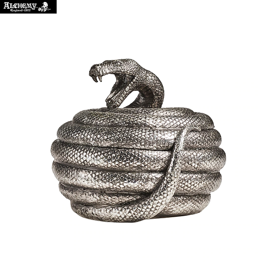 Coiled Snake Serpent Trinket Box / Halloween Decoration by Alchemy Gothic 1977