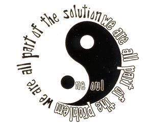 Problem / Solution Mini Yin Yang Sticker
