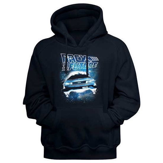 Back to the Future Hoodie / 80's Movie Delorean Hooded Sweatshirt