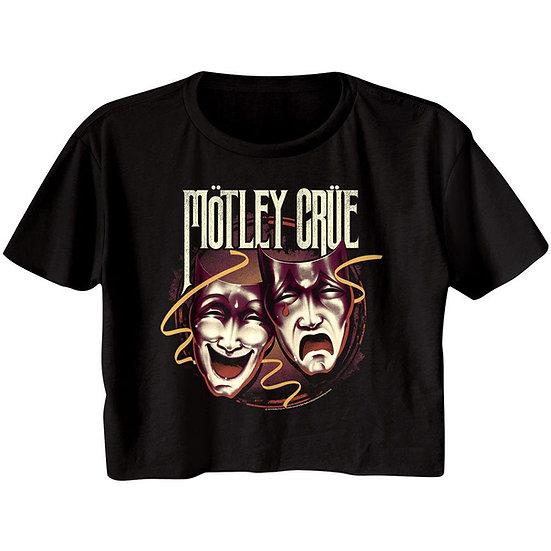 Motley Crue Crop Top / Juniors Theater of Pain Half Shirt Tee