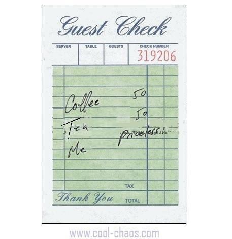 Guest Check Girlfriend Greeting Card