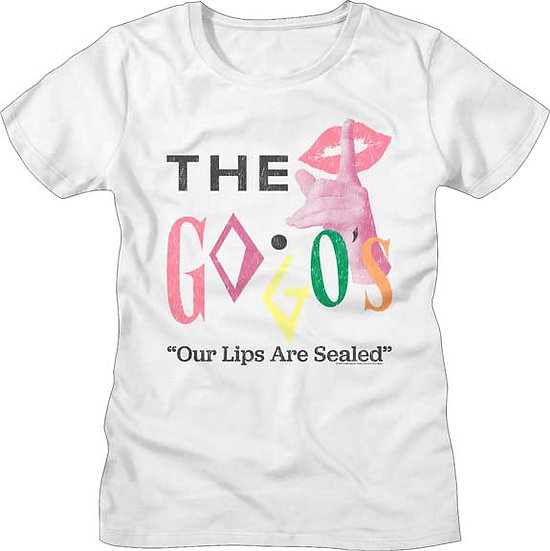 The GoGo's T-Shirt / Our Lips are Sealed 80's New Wave Juniors Tee