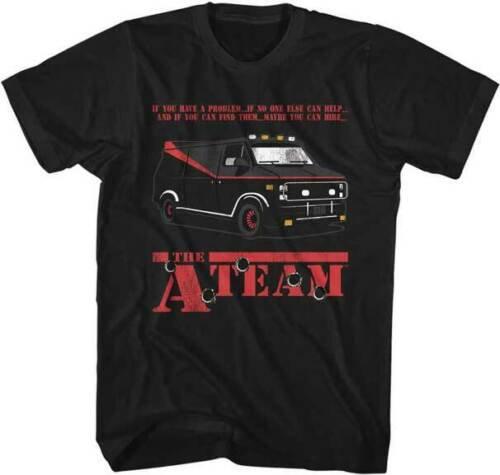 THE A-TEAM VAN T-SHIRT / 80'S TV SHOW TEE,RETRO TEE REISSUE