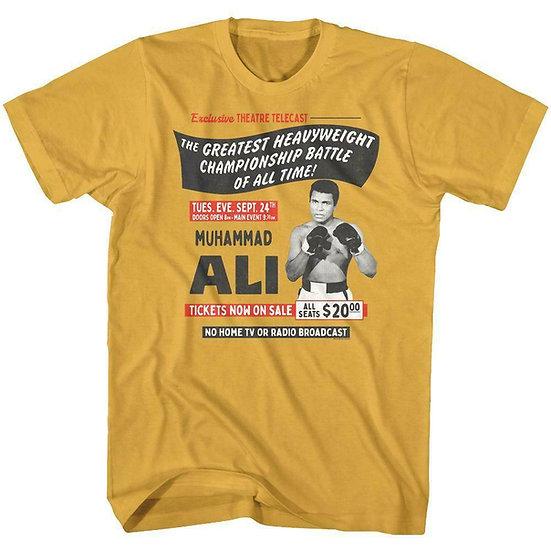 Muhammad Ali T-Shirt / Main Event Telecast Greatest Heavyweight Battle Ali Tee