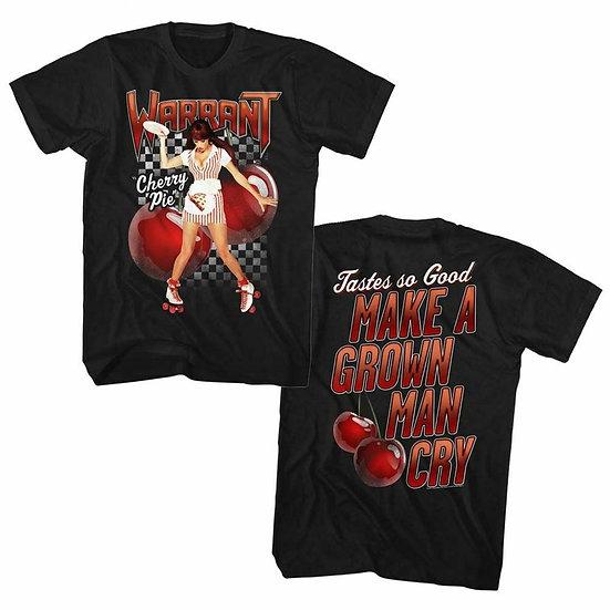 WARRANT T-Shirt / 80's 'CHERRY PIE' ALBUM SET LIST BACKPRINT