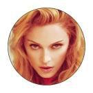 Madonna Button #1 Madonna Face Closeup