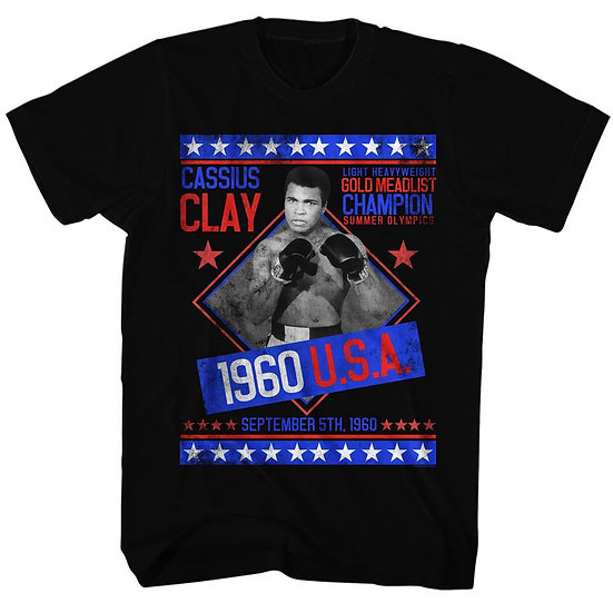 1960 US Olympics Gold Metal Winner Cassius Clay T-Shirt