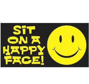 Sit on a happy face Nasty Sticker