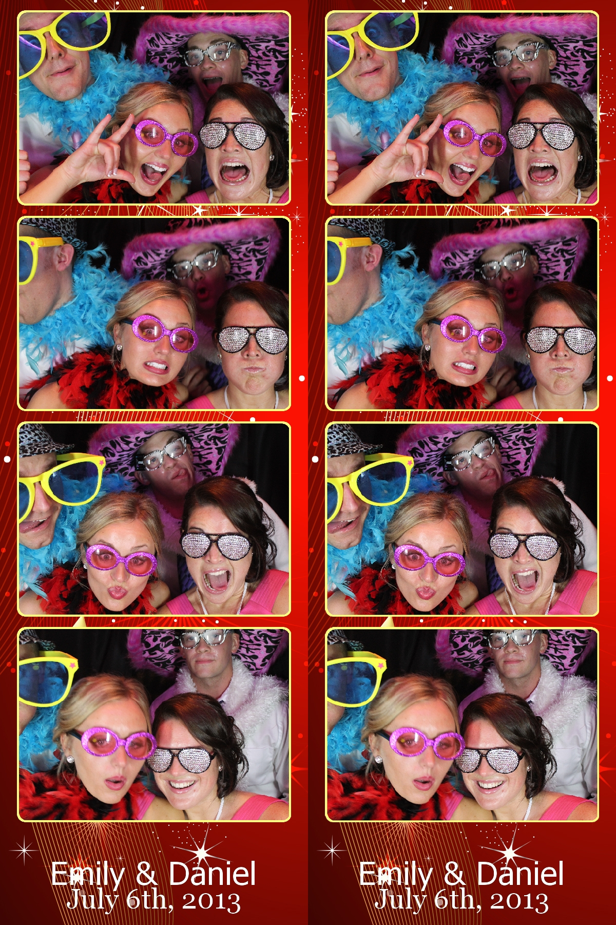Photo Booth Strips wedding dj erie