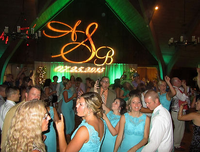 Monogram Name in Lights  Wedding DJ Shawn Steele Erie, PA