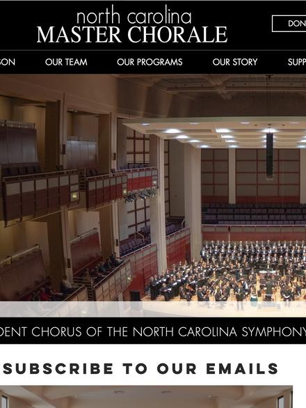 North Carolina Master Chorale | Performing Arts Organization
