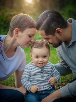 Sesión de fotos en familia