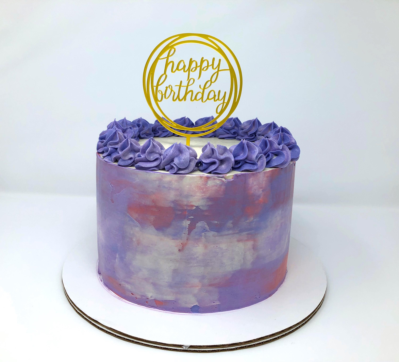 Purple Design Cookies N' Cream Cake