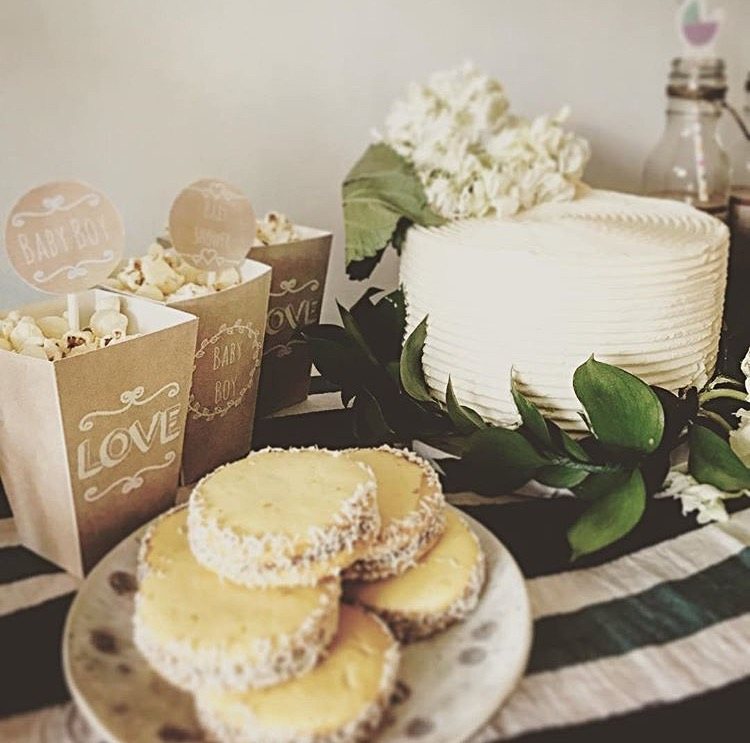 Baby Shower Floral Cake