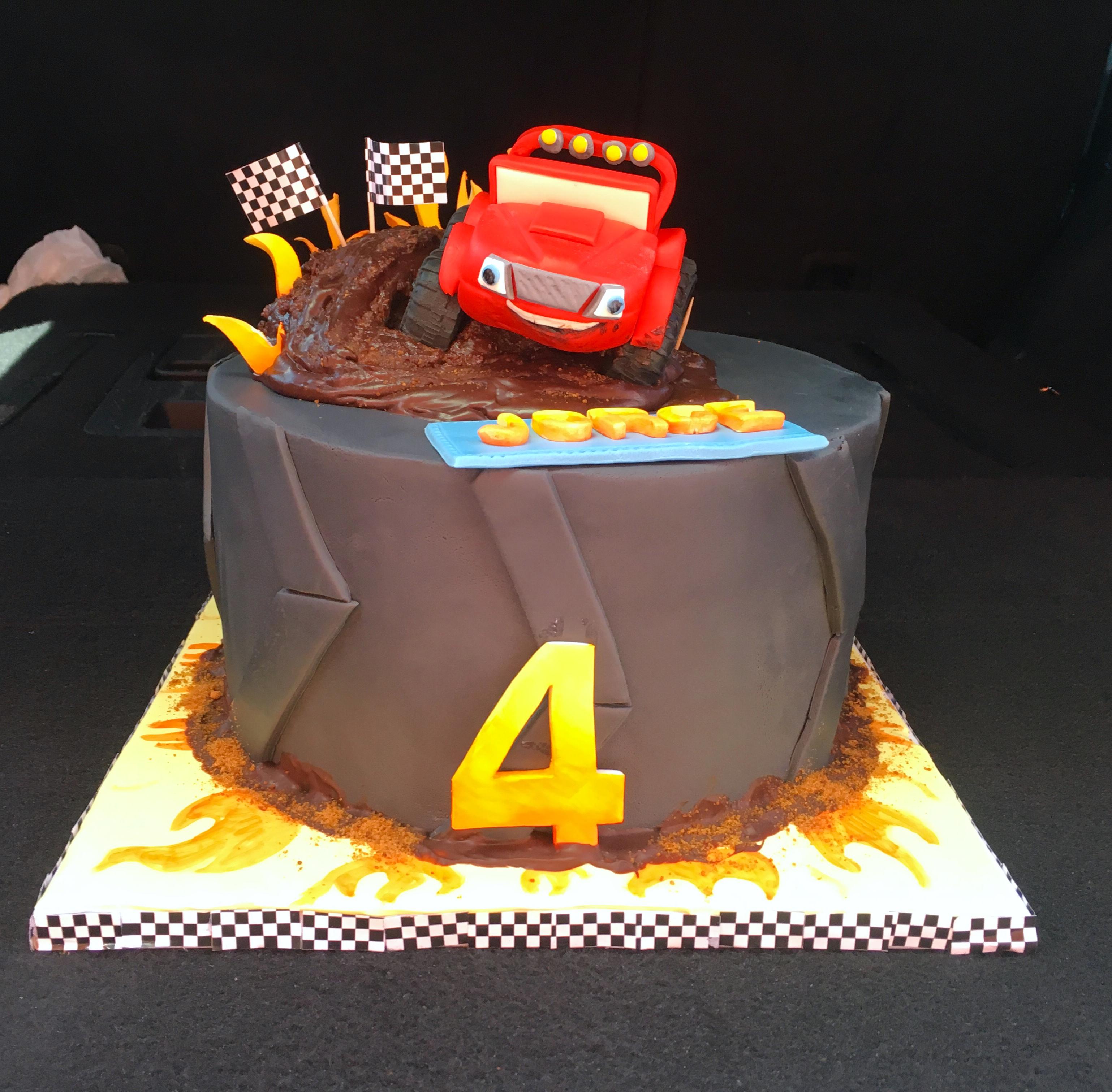 Monster Truck Themed Cake
