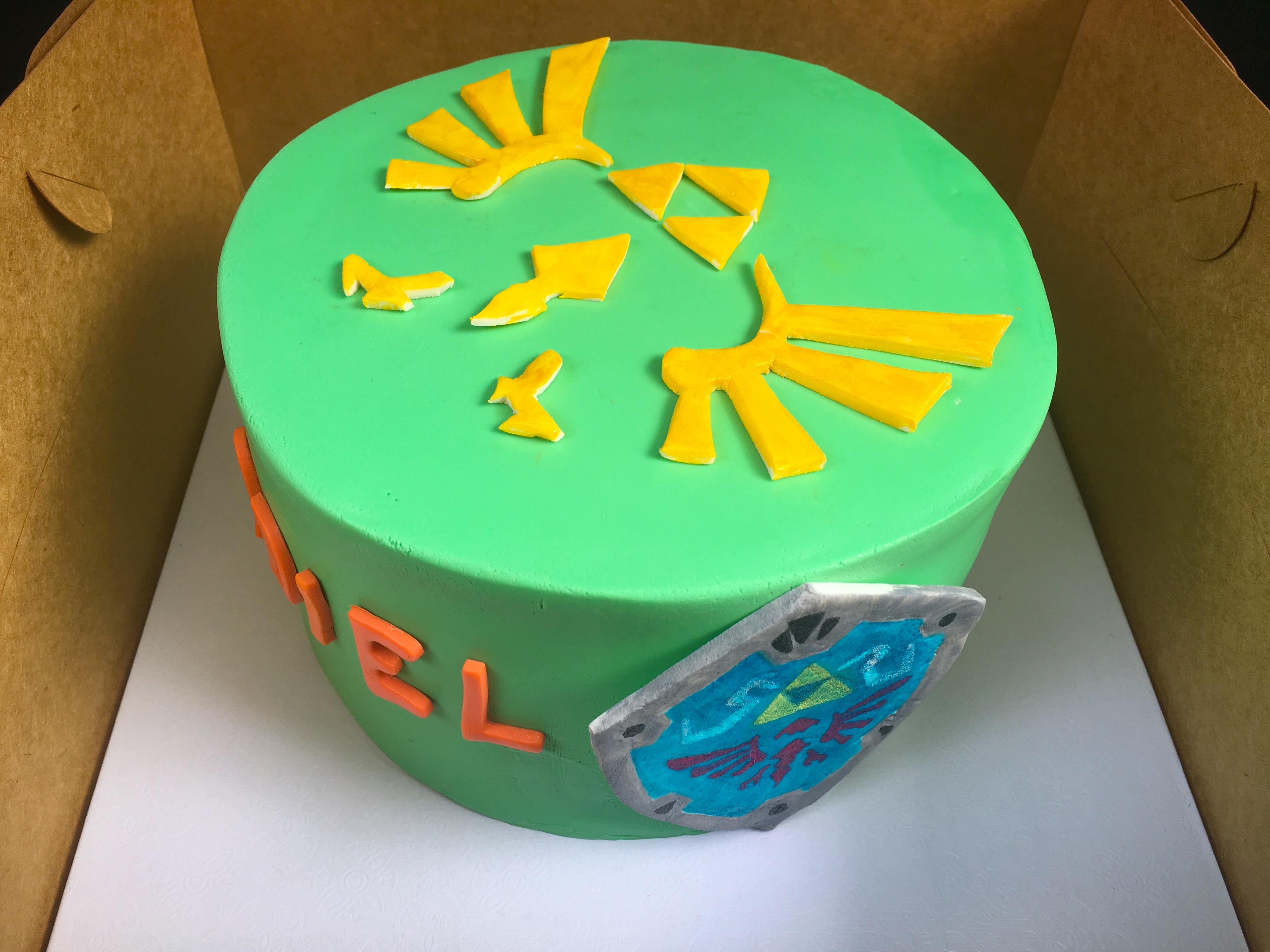 Legend of Zelda Themed Cake