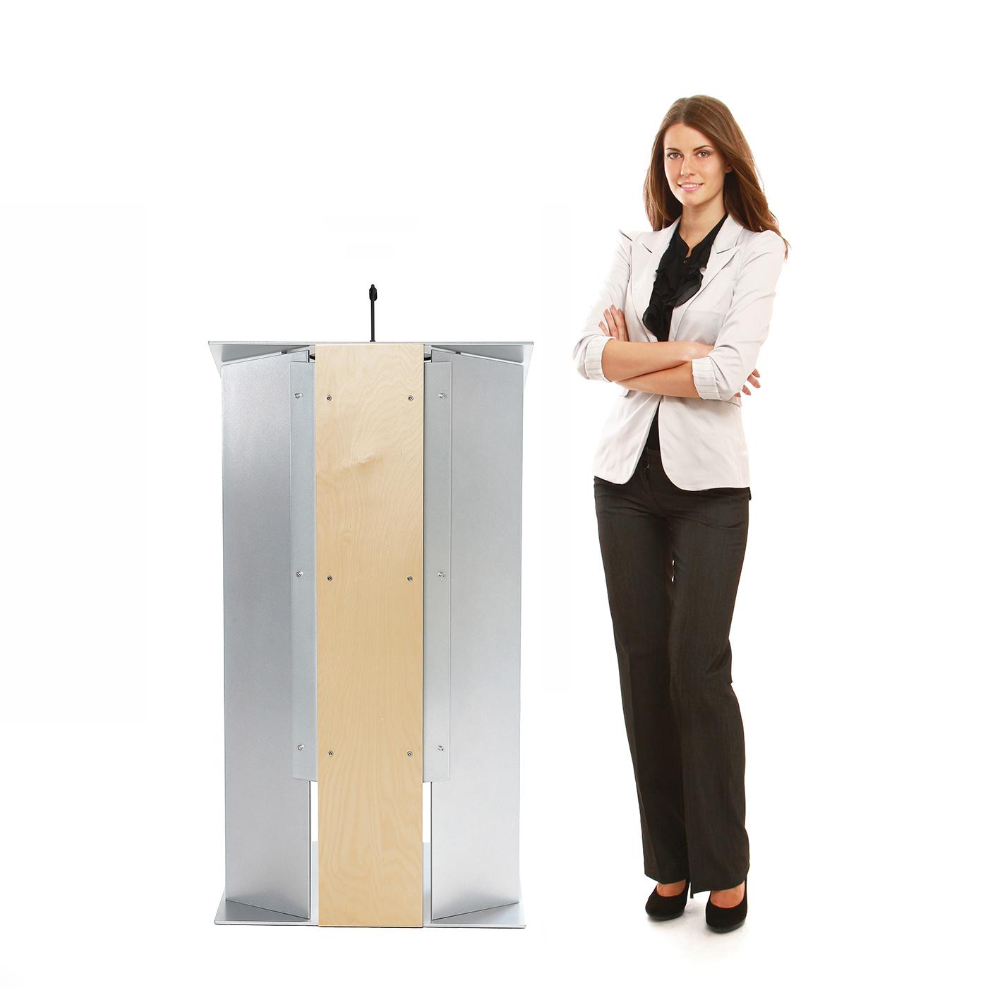 Urbann K6 lectern front woman