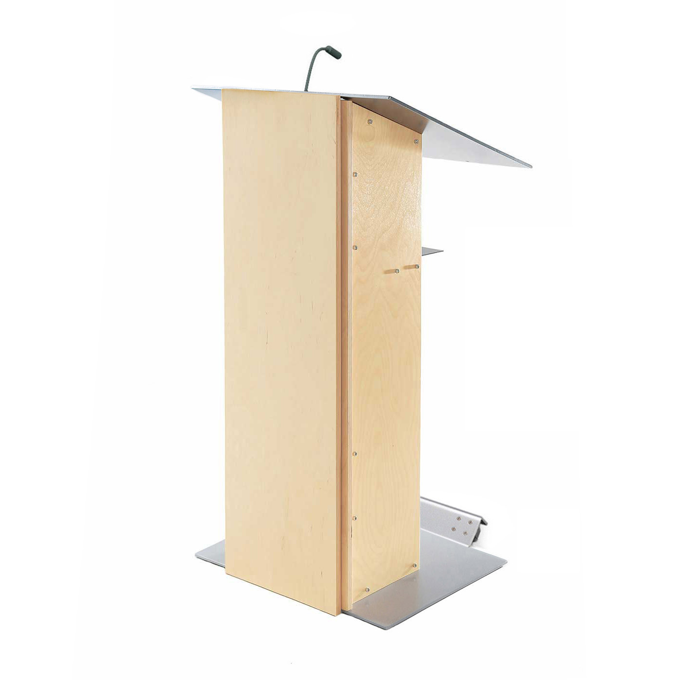 Urbann K2NW lectern natural lamp side