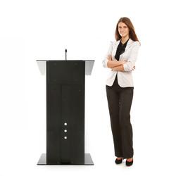 Urbann K3 lectern front woman