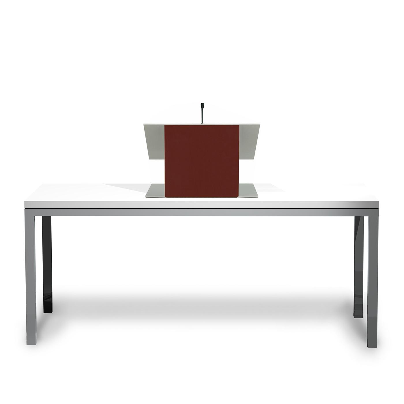 Urbann_K9_Mahogany front table white