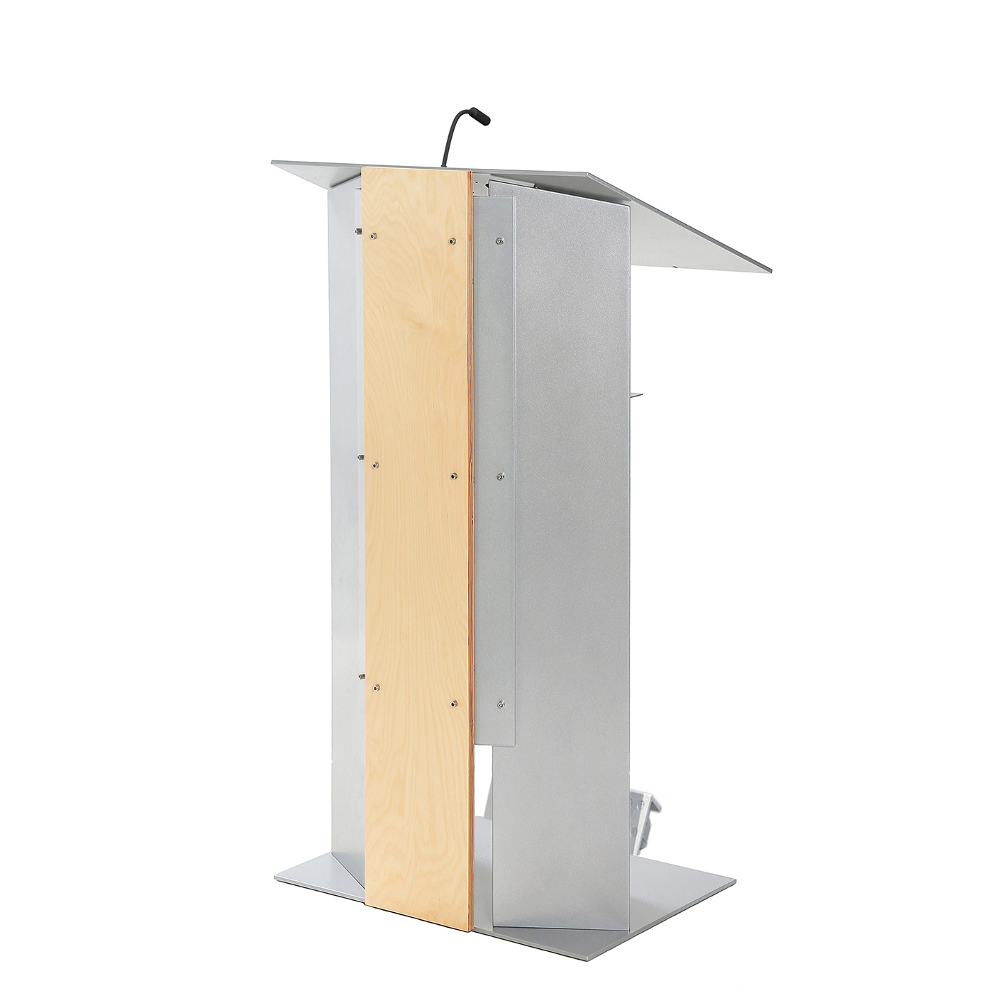 Urbann K6 lectern with wheels side