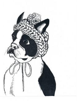 """""""Perro con gorro de lana"""""""