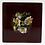 Thumbnail: Paul Stankard Figures & Floating Flowers Art Glass Paperweight Block