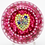 Thumbnail: Perthshire Red Millefiori Canes Heart Art Glass Paperweight