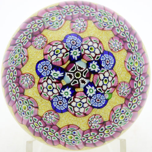 Paul Ysart Colorful Millefiori Canes Art Glass Paperweight