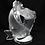 Thumbnail: Lalique France Deux Poisson Koi Fish Pisces Art Glass Paperweight Sculpture