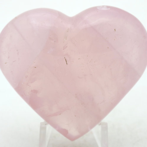 Natural Rose Quartz Crystal Polished Heart Mineral Specimen