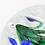 Thumbnail: Bob Banford  Gingham Cut Basket Iris Bouquet Art Glass Paperweight
