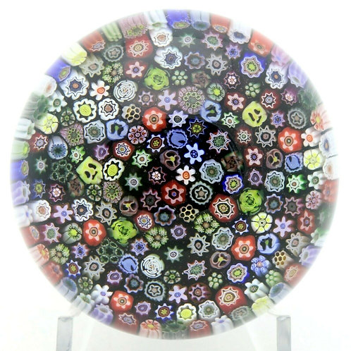 Parabelle Colorful Mixed Millefiori Canes Art Glass Paperweight