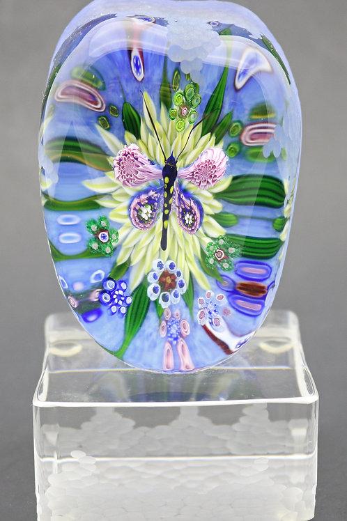 OOAK Debbie Tarsitano Pulled Butterfly Art Glass Sculpture