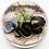 Thumbnail: Victor Trabucco Rocky Black Desert Snake Art Glass Paperweight