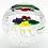 Thumbnail: Bob Banford Floral Orchid Bouquet Diamond Cut Basket Art Glass Paperweigh