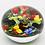 Thumbnail: Magnum Rick Ayotte Colourful Birds & Mushrooms Art Glass Paperweight