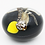 Thumbnail: Rick Ayotte Nocturnal Owl with Moon Studio Art Glass Paperweight