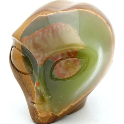 Afghanistan Jade Alien Head Gemstone Mineral Sculpture