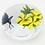 Thumbnail: Melissa Ayotte Yellow Flowers Floating Butterfly Art Glass Paperweight